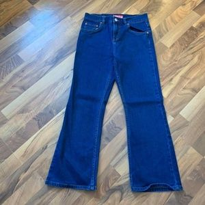 Women's Levi's 517 Denim Blue Jeans Flare Stretch